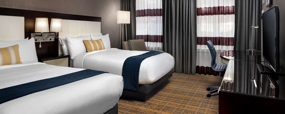 Guestrooms blend contemporary style with classic detail that give a nod to the history of the building.
