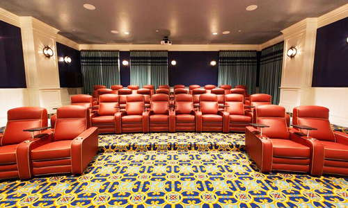 Private movie theater at The Beach Club.