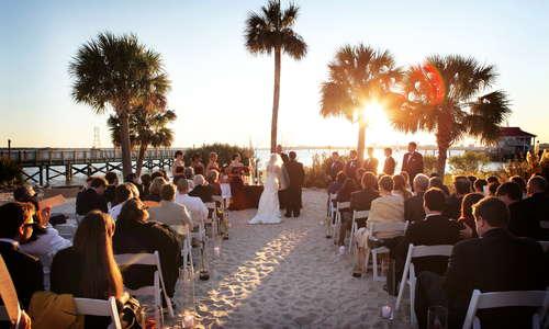 Weddings on the beach in Charleston, South Carolina.