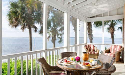 Private screened-in porch.