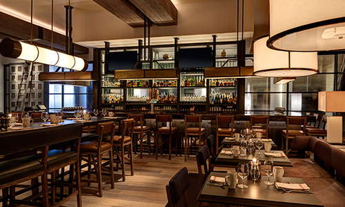 Enjoy inherently American cuisine at Bank & Bourbon