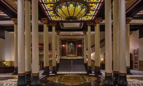 Grand Staircase with Colonel Driskill Portrait