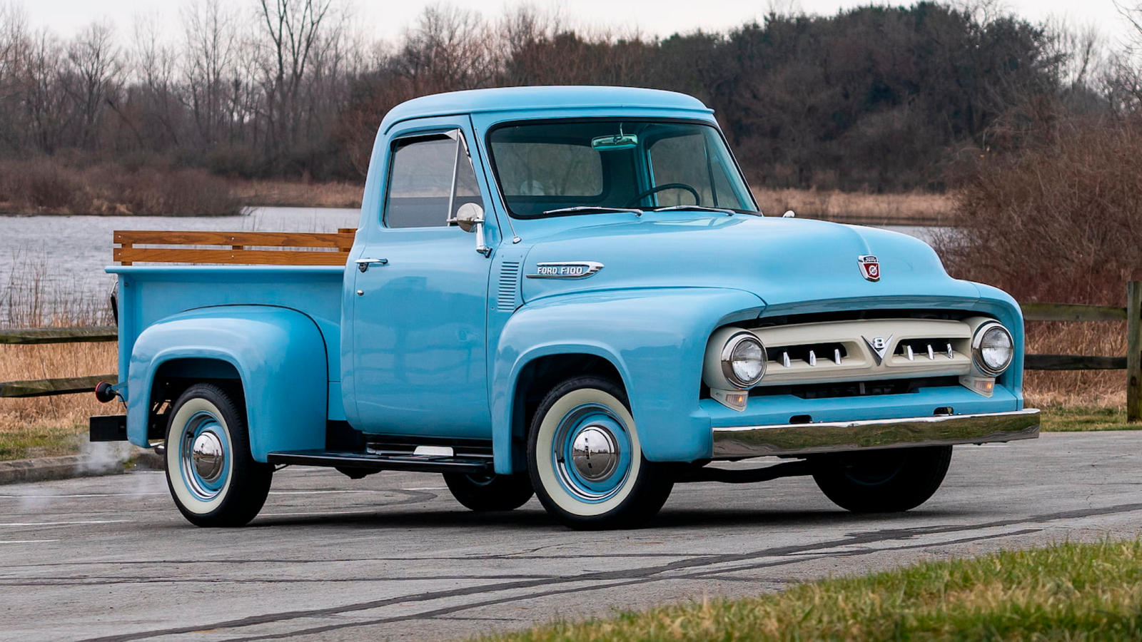 Glacier Blue 1953 Ford F-100 Should Never Be Put out to Pasture