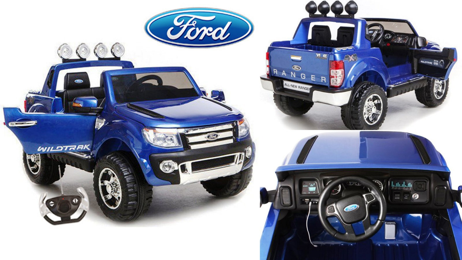 Electric Remote Control Ride On Ford Ranger
