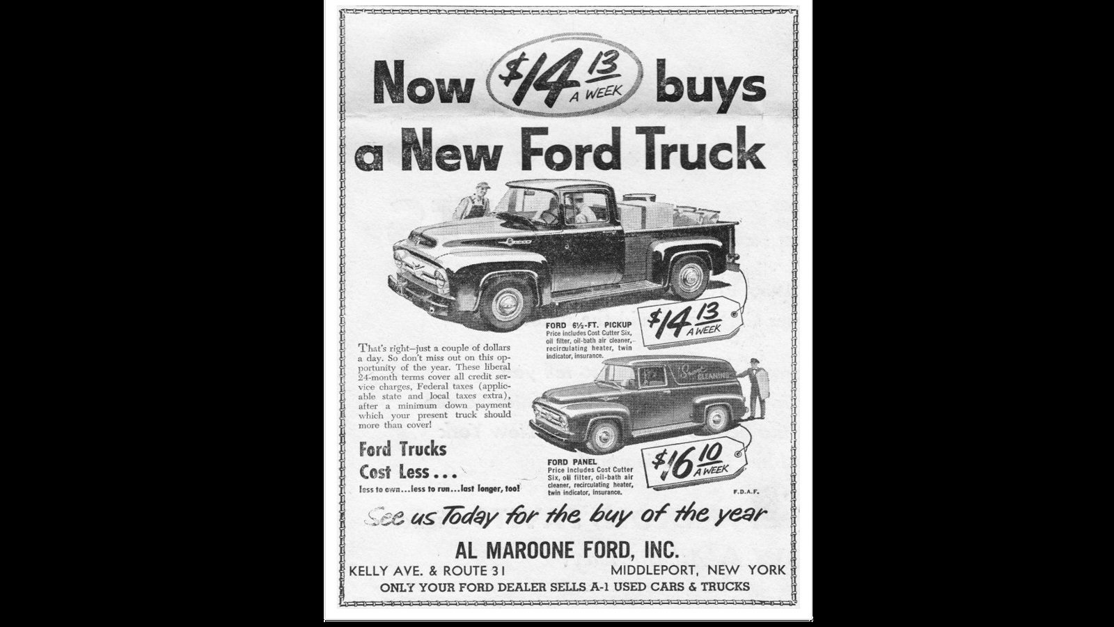 Buy a Ford Truck For a Couple Dollars a Day