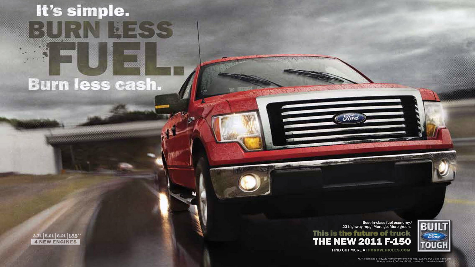2011 Ford F-150 (3.7l/auto 6sp) - 17 city/23 highway