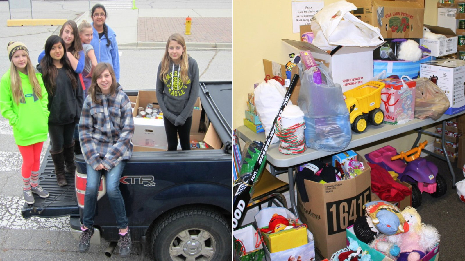 Canadian Students Collect for Knights of Columbus