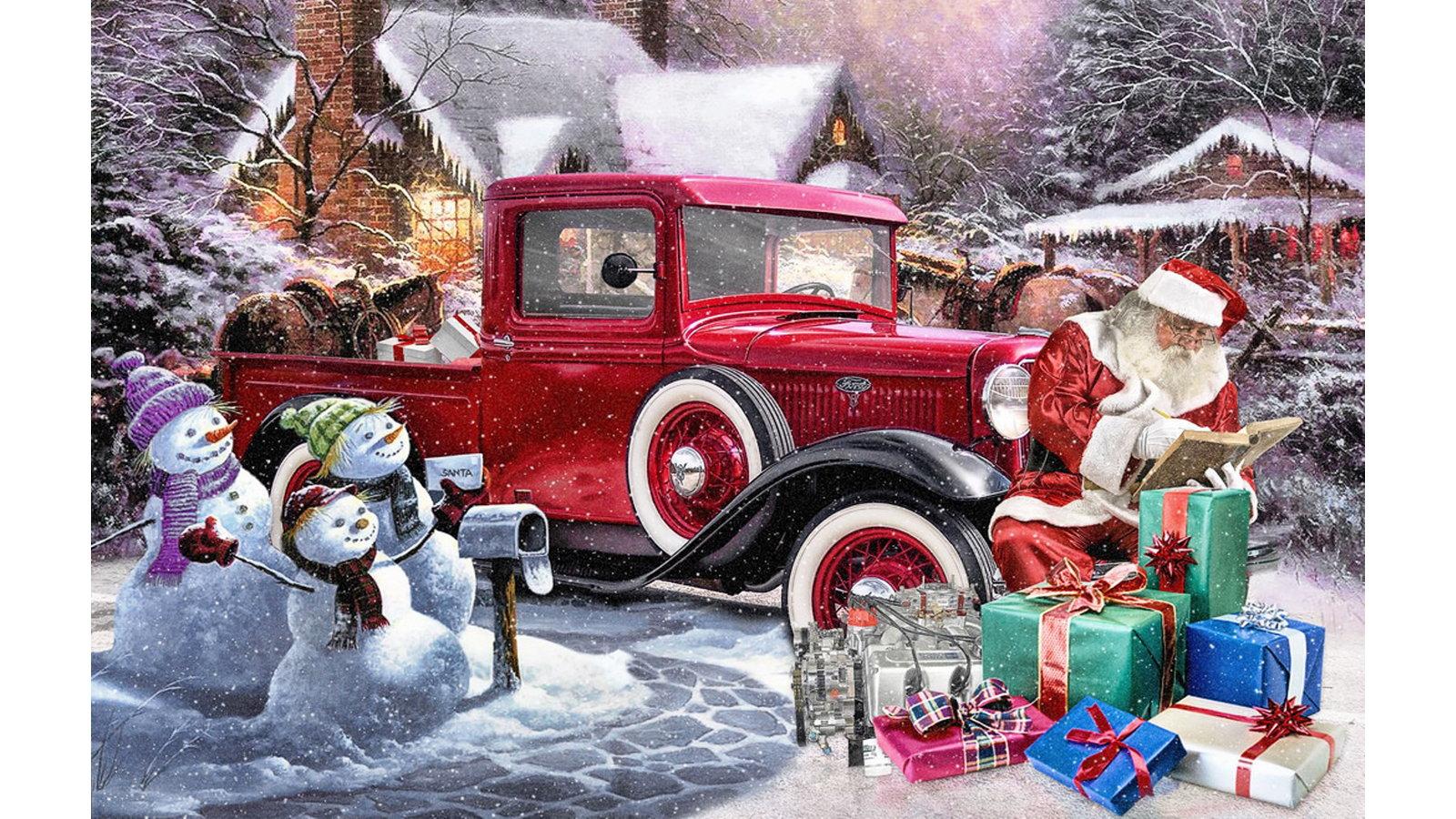 Santa's Model A Truck