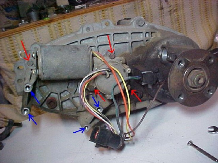 Ford F150 F250 How to Replace Transfer Case Motor - Ford-Trucks  F Transfer Case Wiring Diagram on e series wiring diagrams, 2011 ford wiring diagrams, accord wiring diagrams, maxima wiring diagrams, probe wiring diagrams, g6 wiring diagrams,