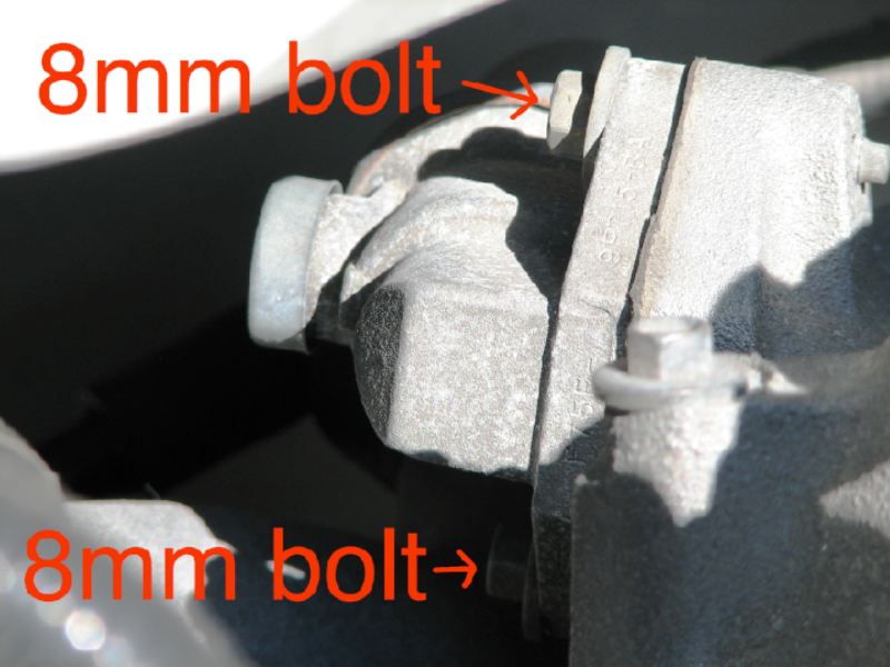 Bolts securing IAC valve to throttle body