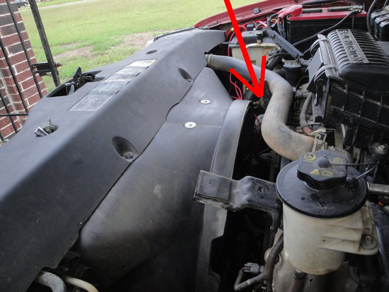 ford f150 f250 replace serpentine belt how to ford trucks step 1 clear the way to the tensioner