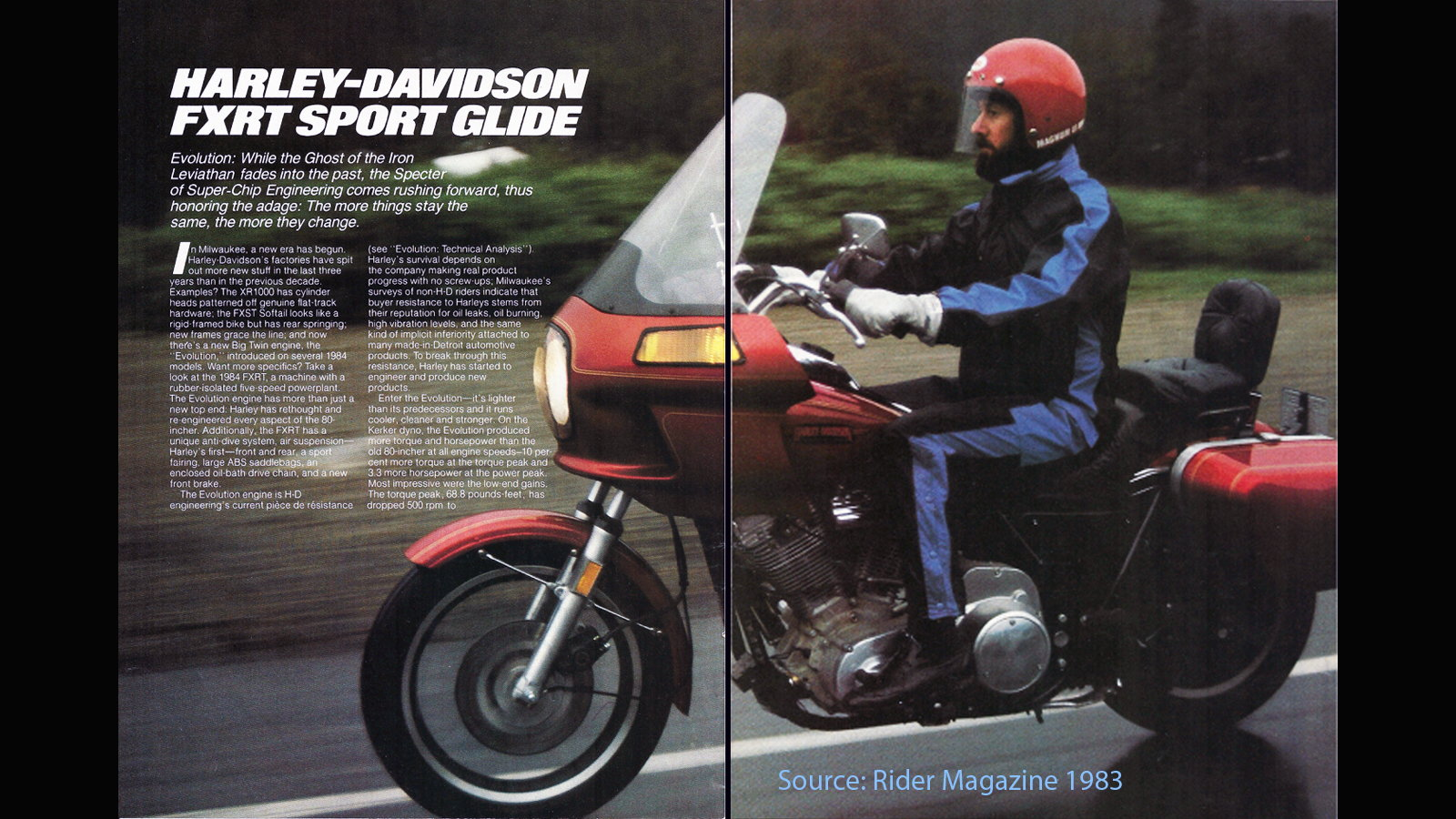 7 Facts about the 1983-92 Harley-Davidson FXRT Sport Glide | Hdforums