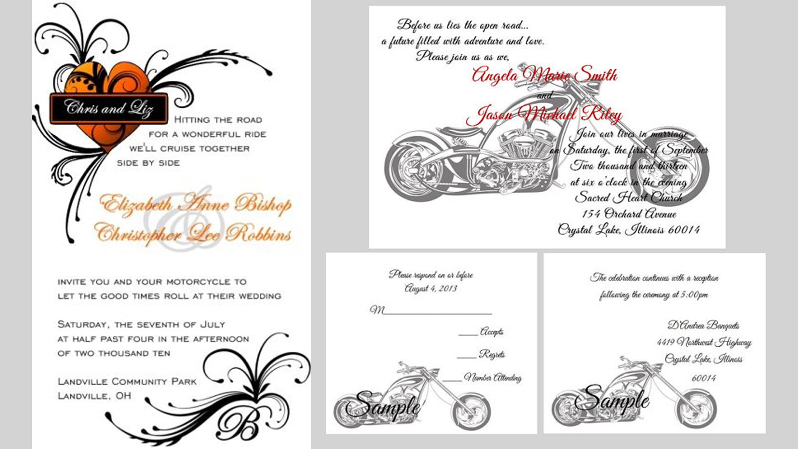 Awesome 11 Things You Need For A Harley Davidson Themed Wedding Hdforums Let Your  Guests Know The