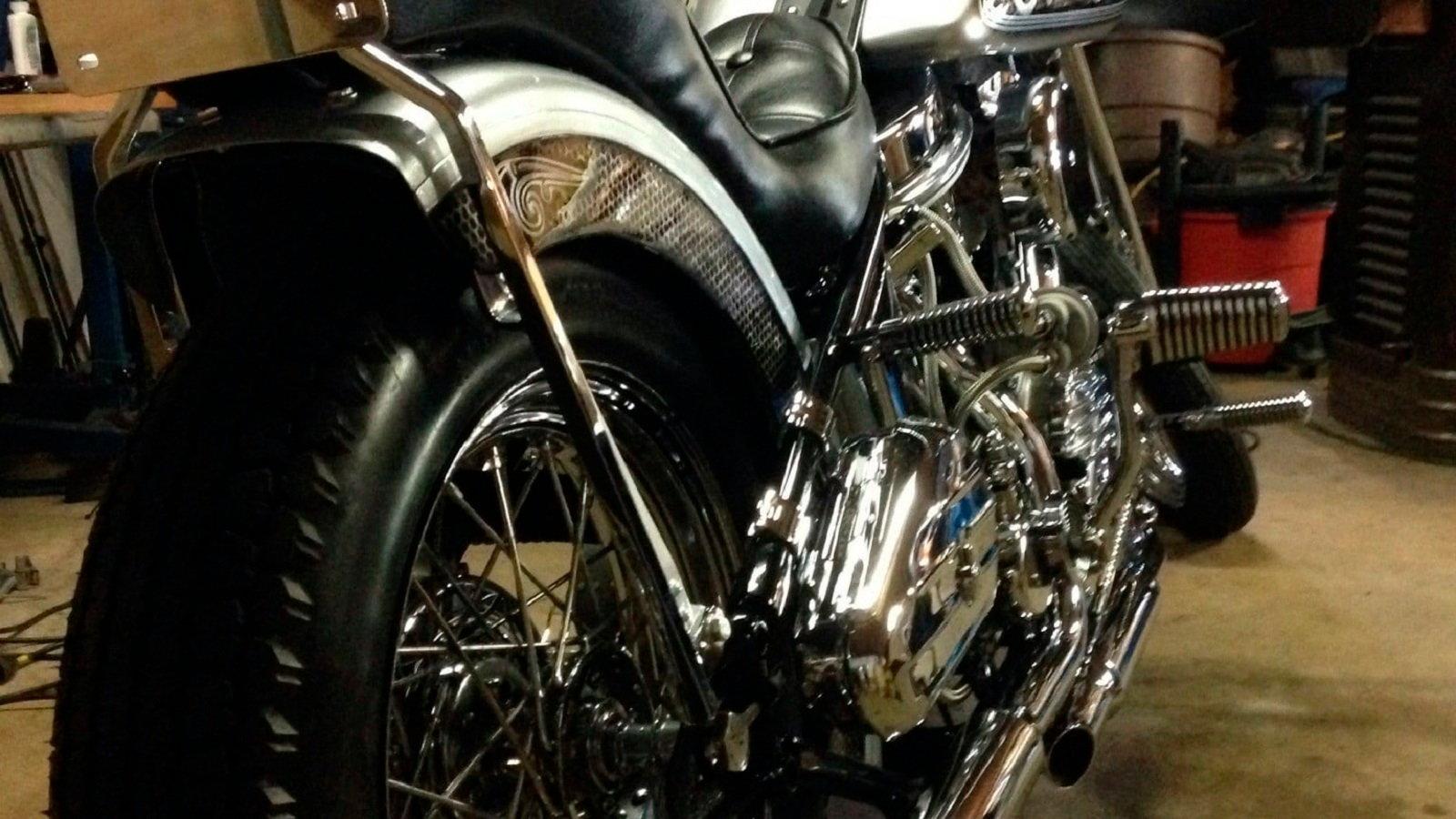 Harley Panhead Chopper Is a Custom Masterpiece