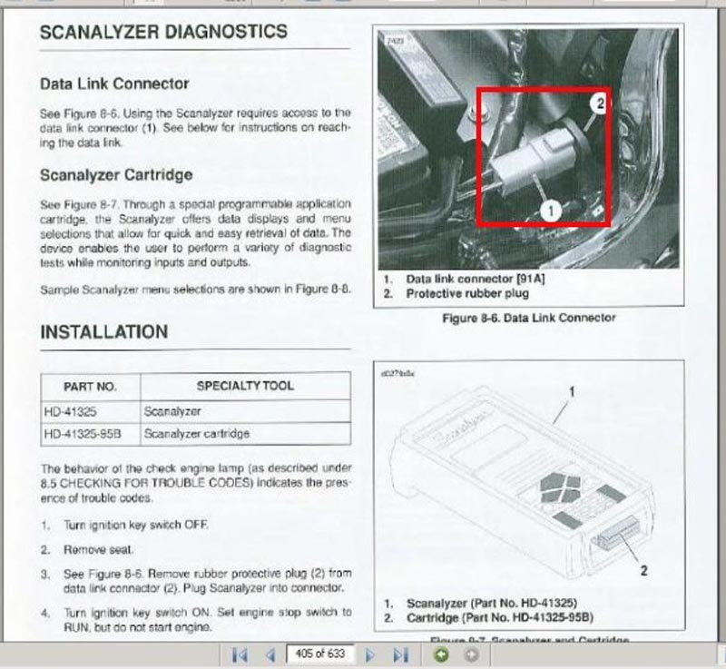 harley davidson softail how to read diagnostic trouble codes