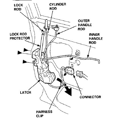 Honda Accord Why Wont My Rear Door Open 376721 on toyota camry body parts diagram