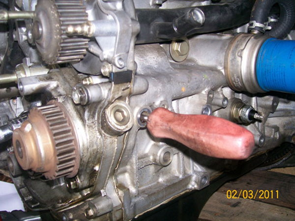 Honda accord how to replace your oil pump honda tech when removing the balancer use a lock pin tool to keep it in place sciox Image collections