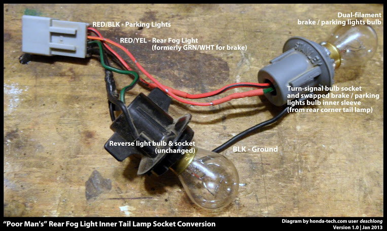 honda rear fog light harness 47084 honda civic how to install rear fog lamp honda tech  at readyjetset.co