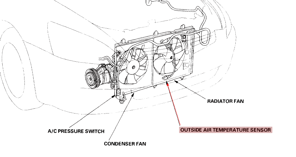 Honda Accord Why Does My Fan Keep Running After The Car Is Turned Off 376309 on engine coolant temperature sensor