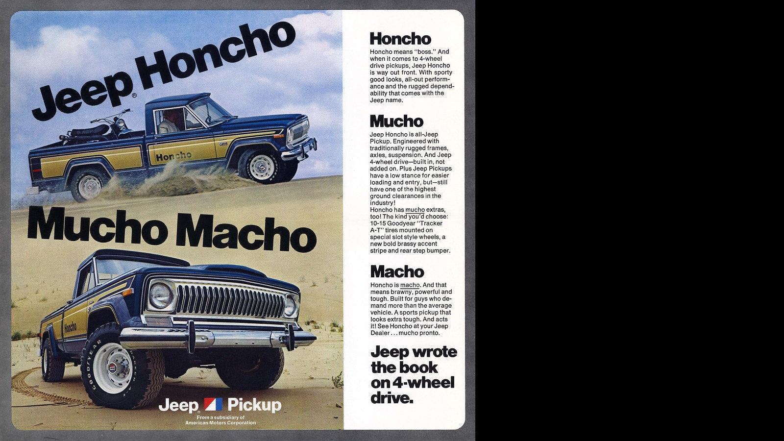 Jeep Honcho - Mucho Macho