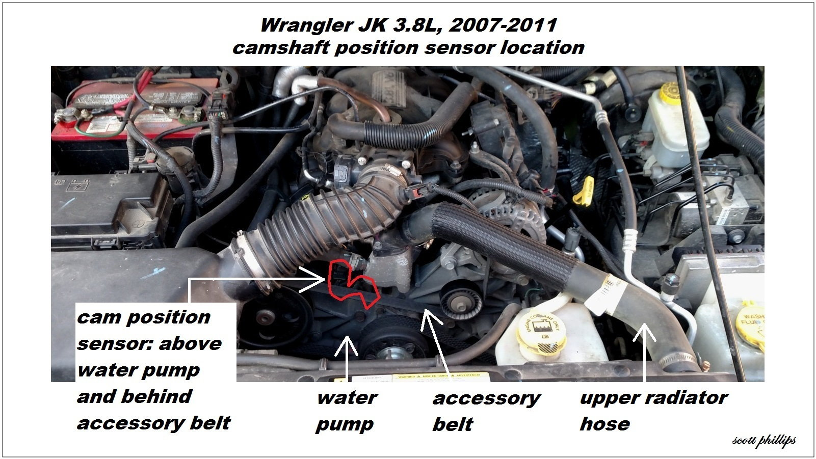 3 WranglerJK CamPosSensorLocation 119676 jeep wrangler jk 2007 to present how to replace camshaft position  at soozxer.org