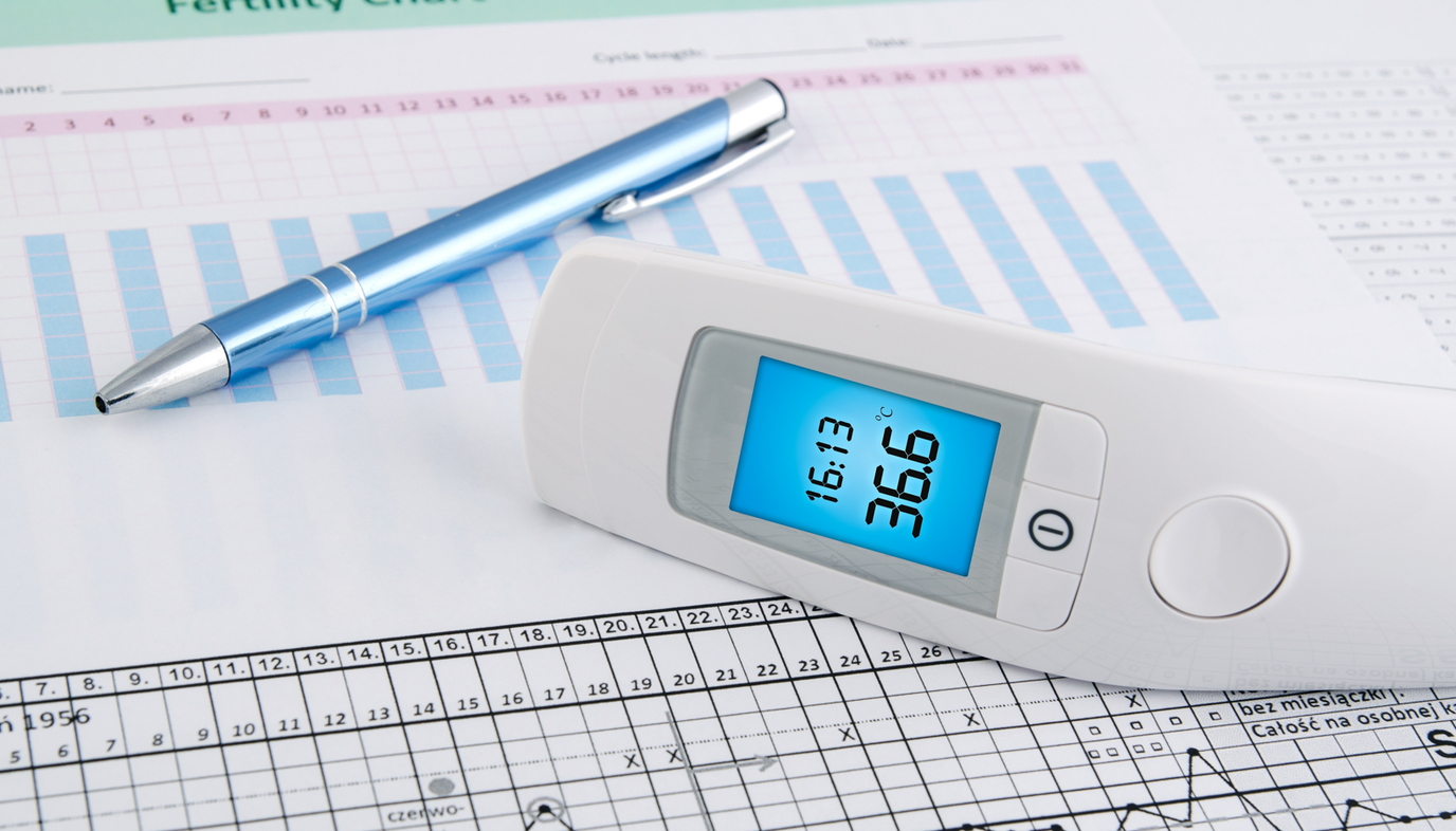 fertility chart with thermometer