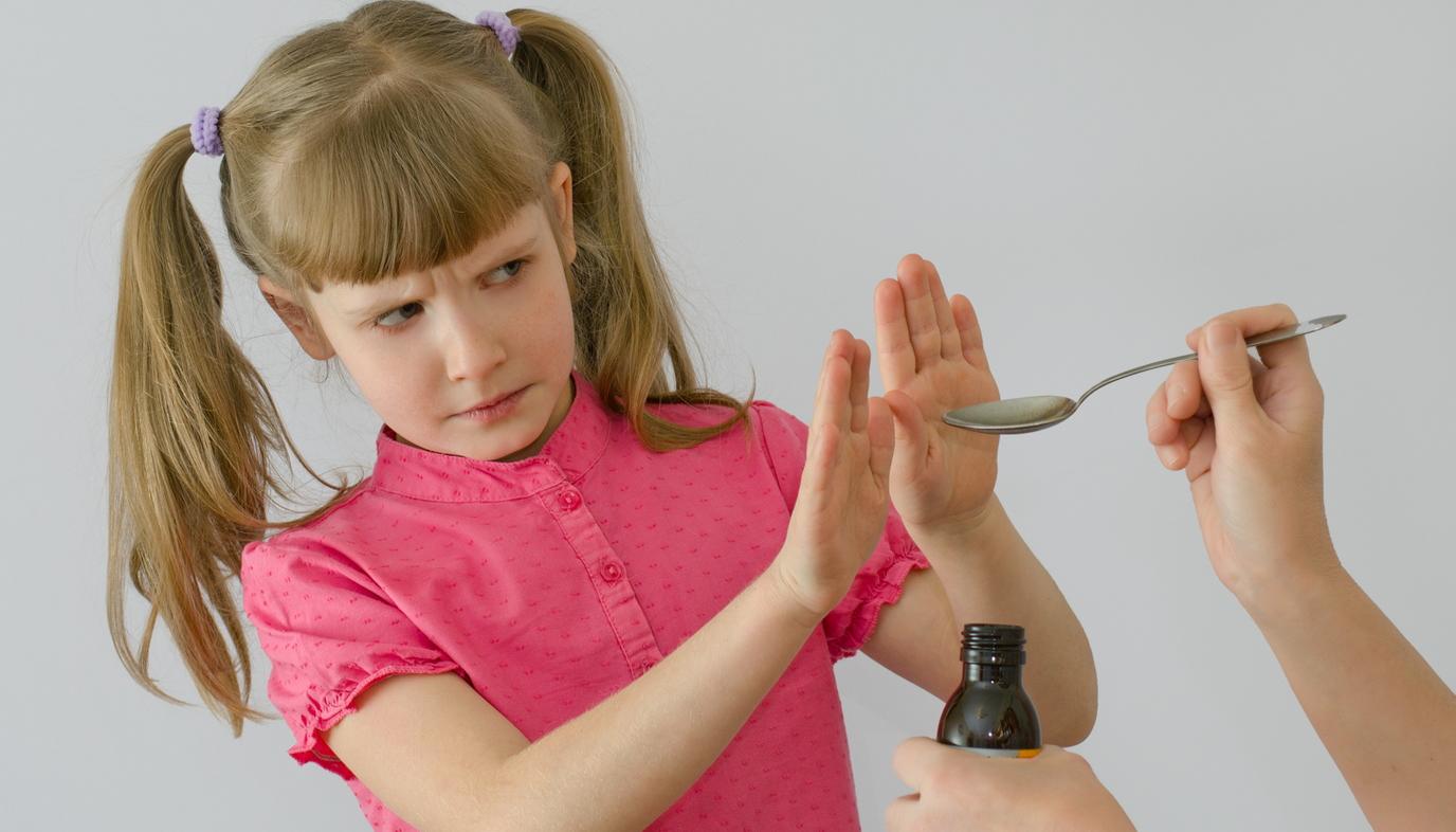 child refusing to take medicine