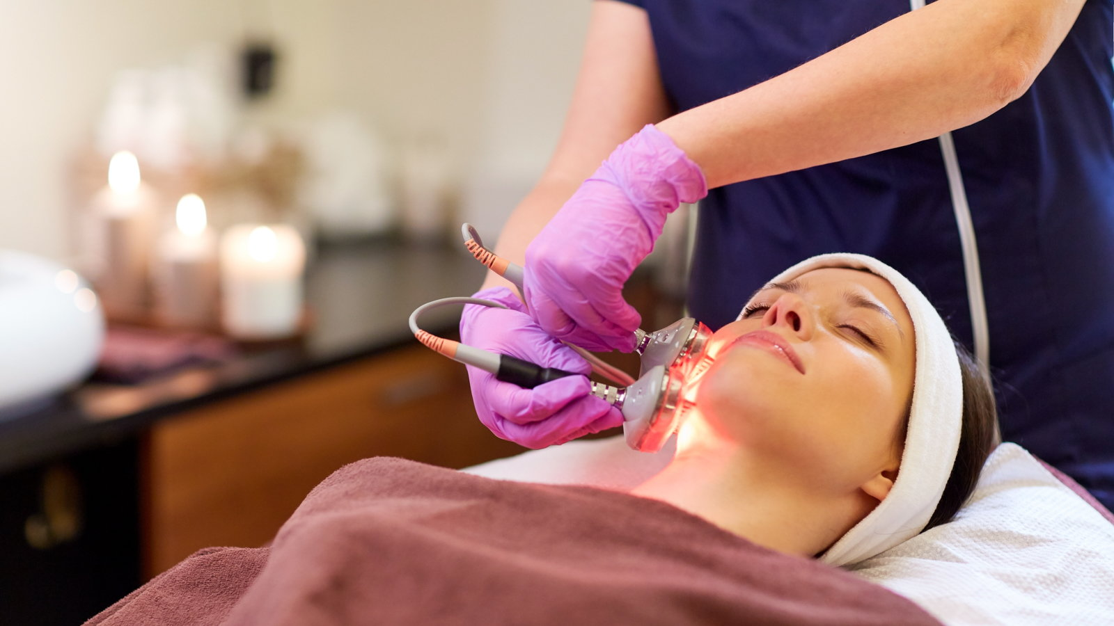 woman getting dermabrasion