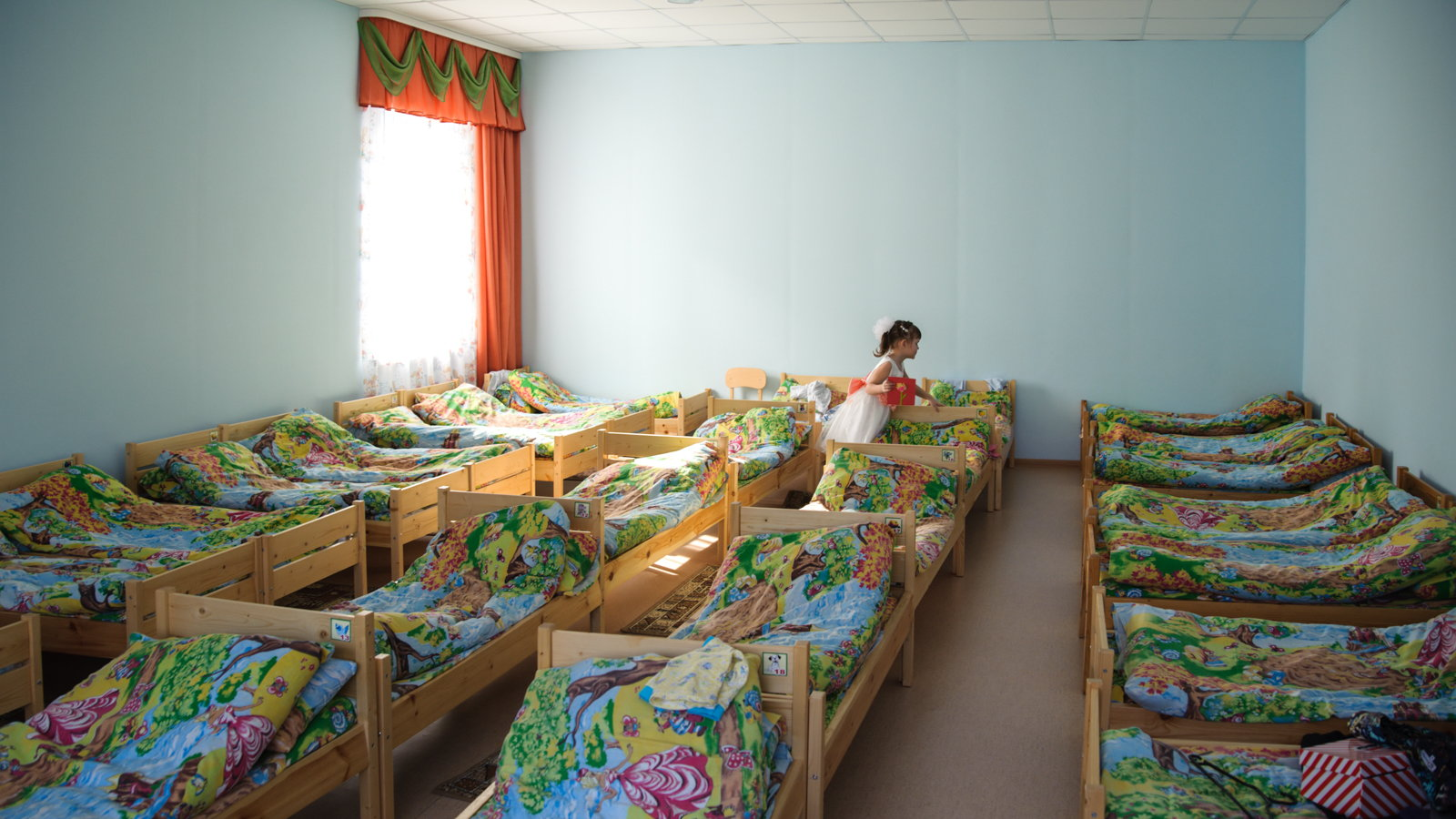 beds in an orphanage