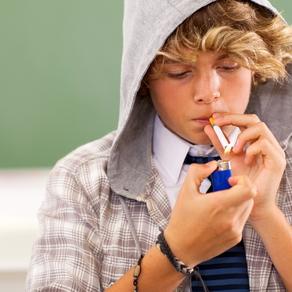 teen boy smoking