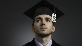 college graduate with large tuition bill