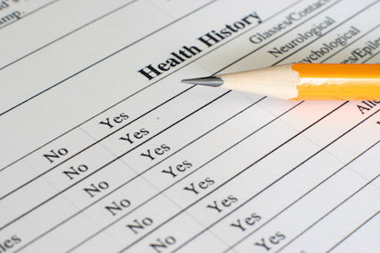 fill out your health history