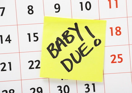 the baby's due date