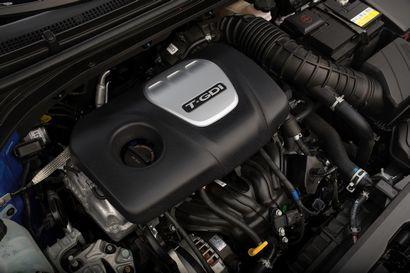 2017 Hyundai Elantra Sport 1.6-liter Gamma DOHC direct-injection twin-scroll turbocharged four-cylinder engine