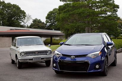 Toyota Corollas past and present