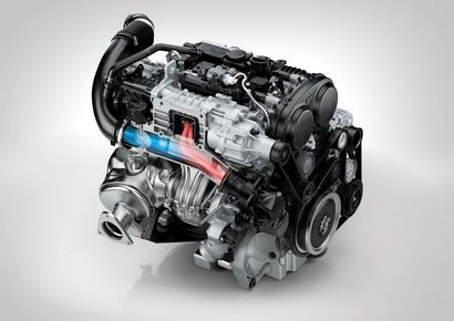 Volvo 2.0L supercharged and turbocharged DOHC I-4 (XC90)