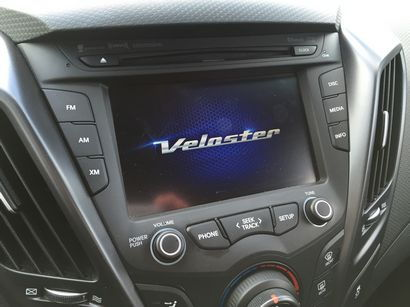 2016 Hyundai Veloster Rally Edition 1.6L Turbo center stack detail