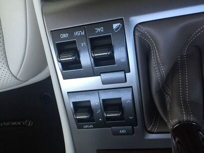 2016 Lexus GX460 suspension and drive switches detail