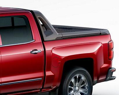 2017 Chevrolet Silverado 1500 High Country High Desert sail panel window and tonneau detail