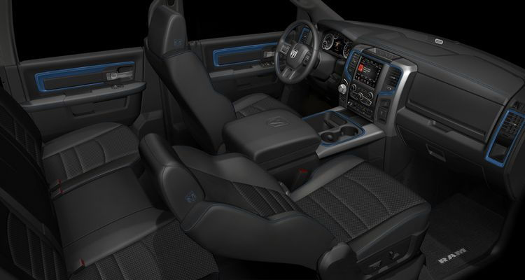 2018 Ram Hydro Blue Sport Edition interior