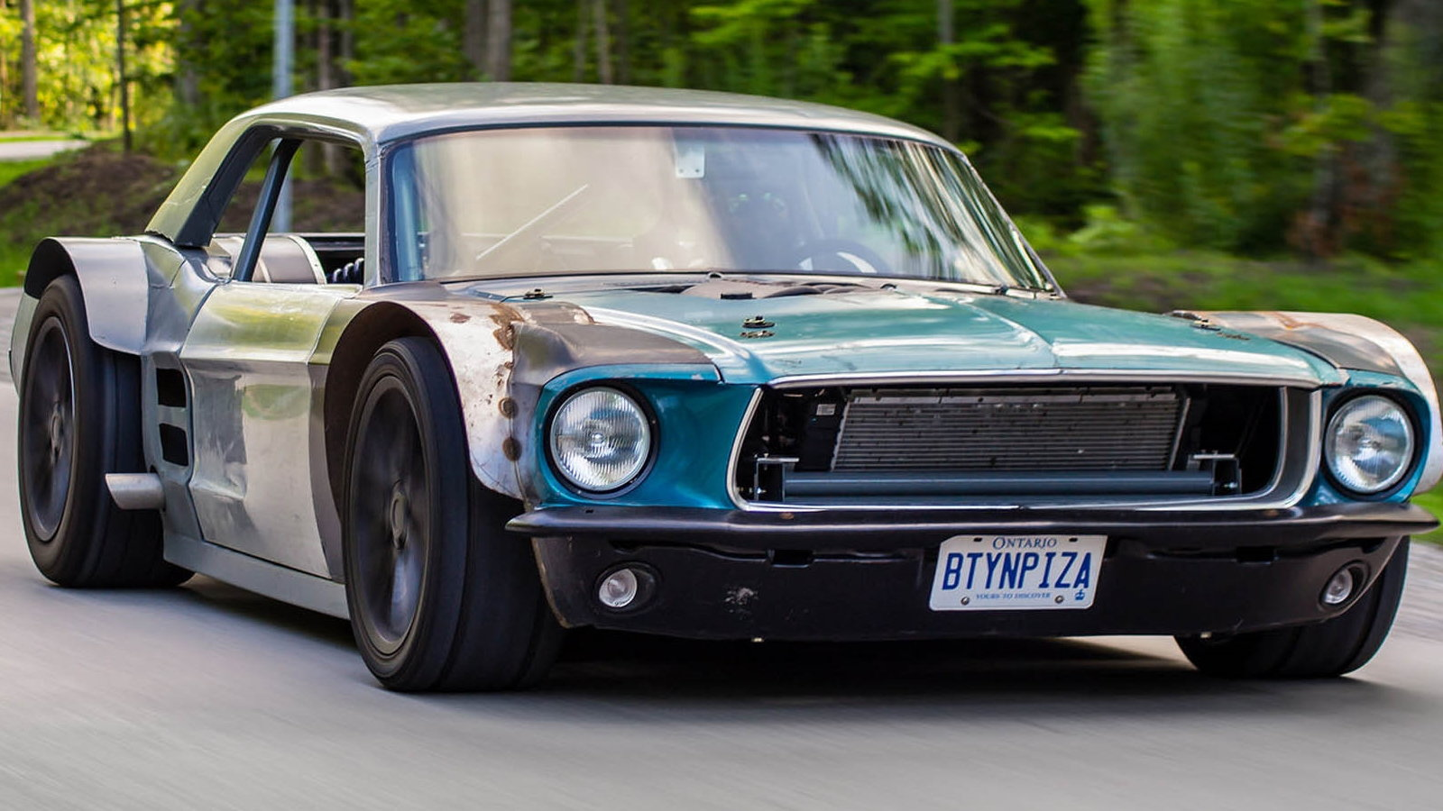 A corvette powered mustang the mad max would love ls1tech