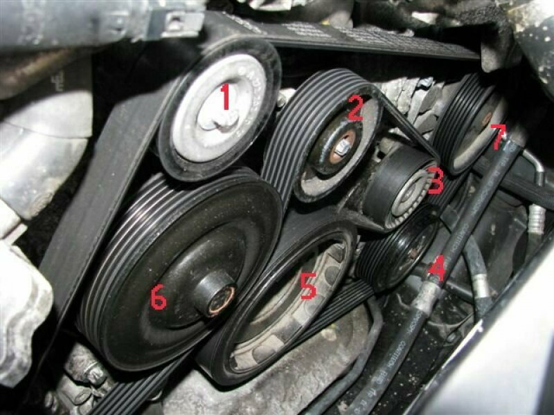 Mercedes Benz C Class W204 Why Are Accessory Belts Noisy
