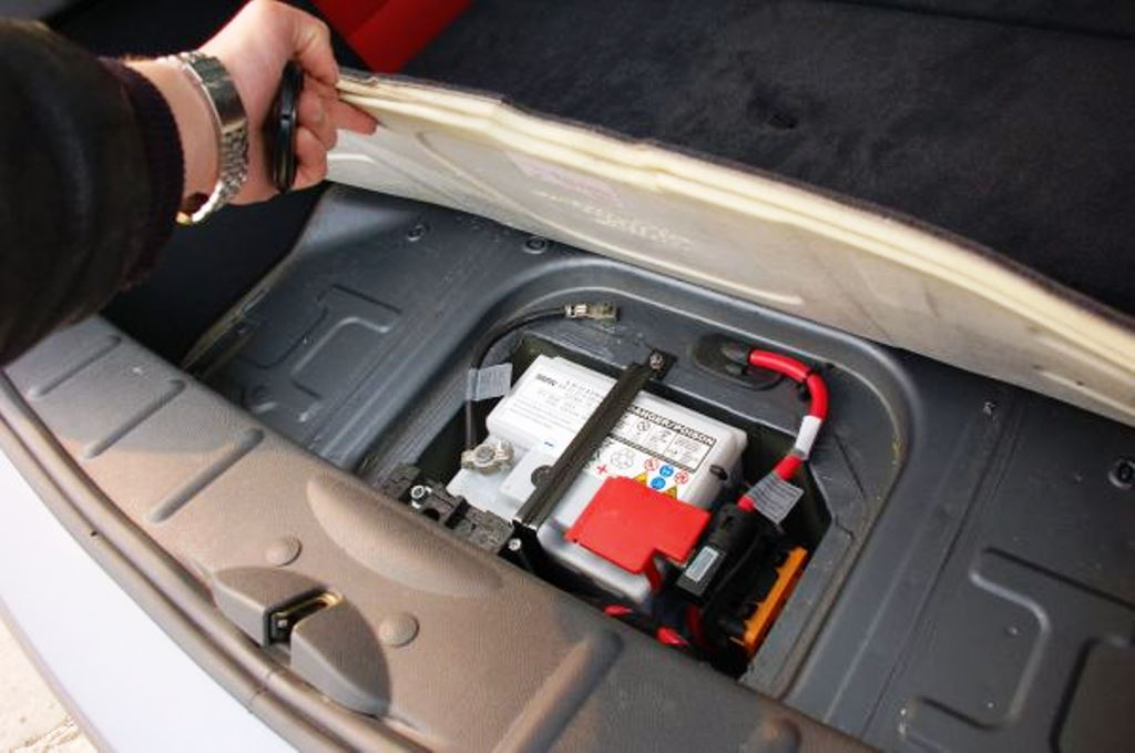 Mini Cooper Battery Location Under The Floor Of Cargo Area