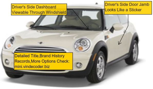 Mini Cooper 2001 to 2016 VIN Decoder | Northamericanmotoring