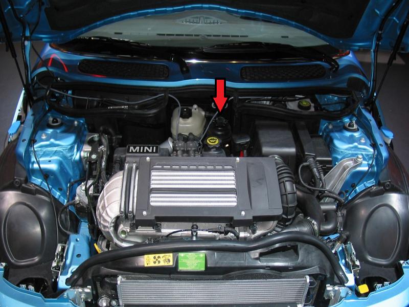 mini cooper 2001 2006 how to change power steering fluid northamericanmotoring change power steering fluid