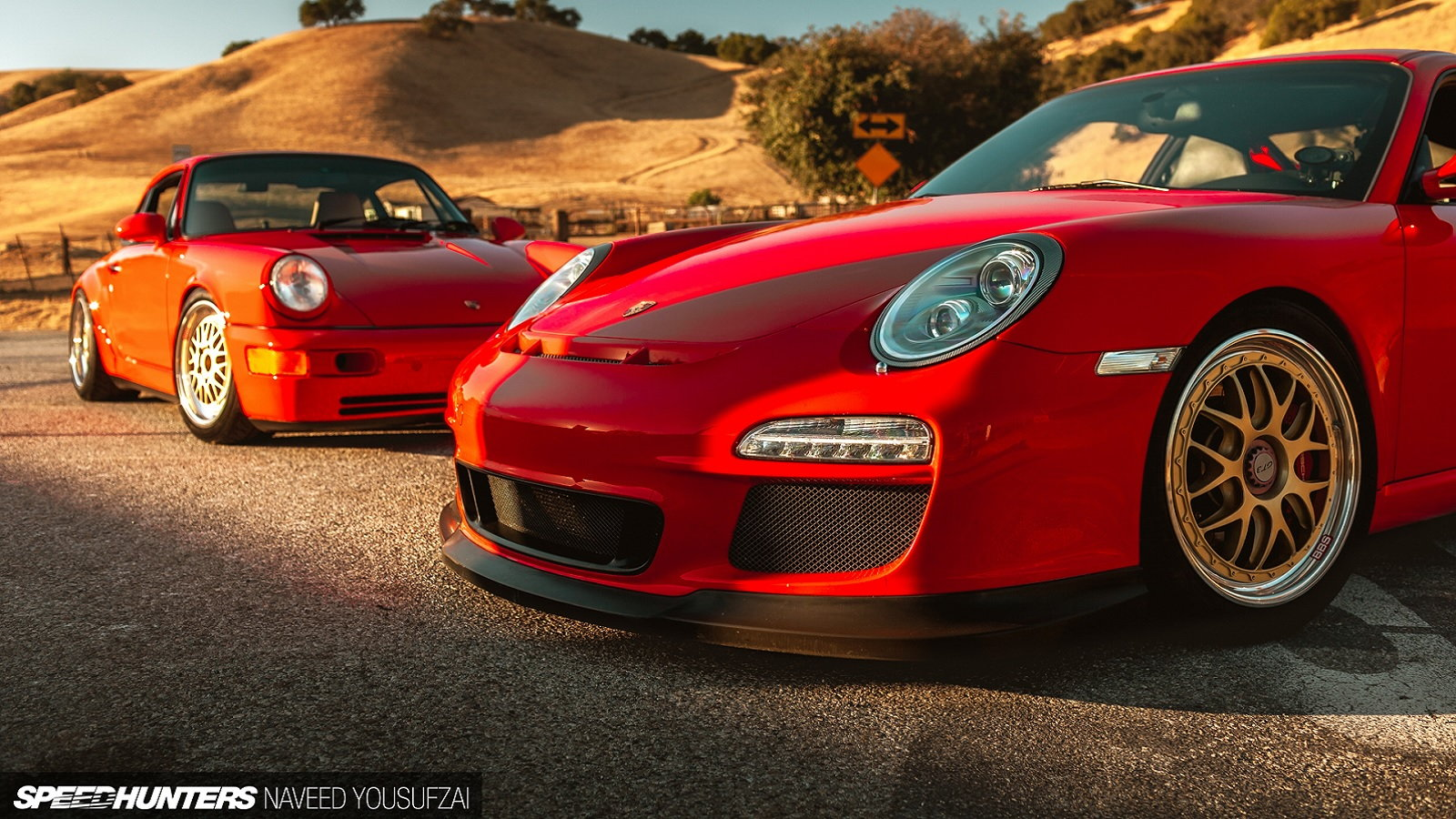 2012 997.2 GT3 and 964 C2 Dressed in Guards Red