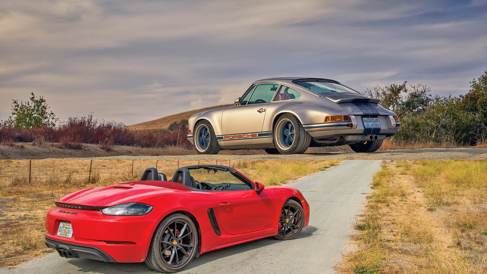 One Singer and One Boxster GTS