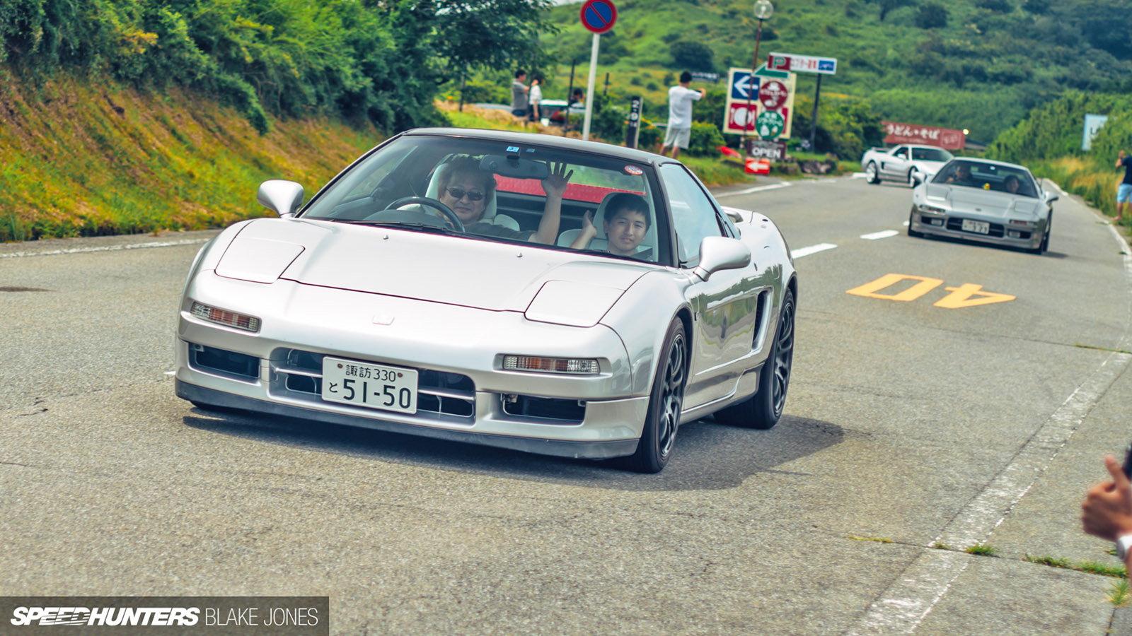 Classic NSX Models Gather Beneath Mt Fuji
