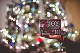 focus shot of Christmas tree at an event