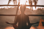 recovering addict practicing mindfulness